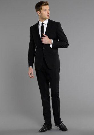 pánský černý oblek Burton (£97.30)