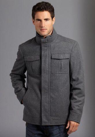 pánský šedý kabát Burton (£49)
