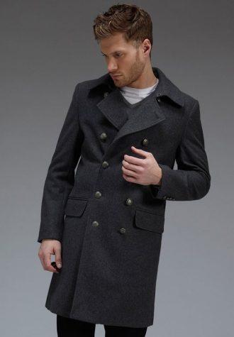 pánský šedý kabát Burton (£72)