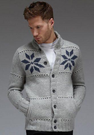 pánský šedý svetr se vzory Burton (£41.40)