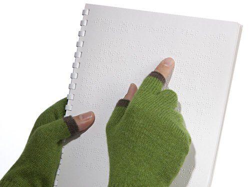 rukavice Touchy - čtěte hmatem