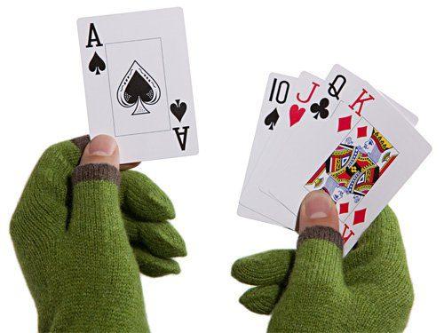 rukavice Touchy - hrajte karty