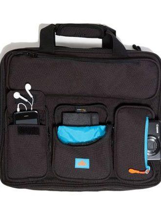černá taška Briefcase od Alkr (£99.99)