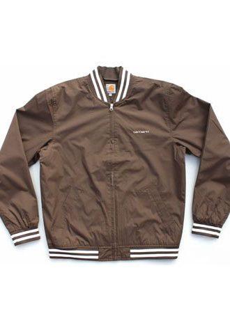 pánská hnědá bunda Battery Jacket od Carhartt (£49.99)