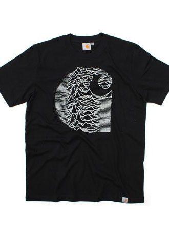 pánské černé triko Joy Division od Carhartt (£24.99)