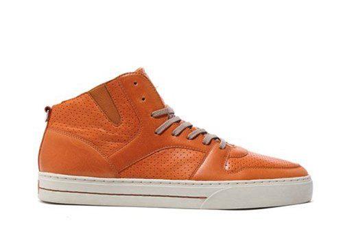 pánské oranžové kožené kotníčkové tenisky Clae, typ Rollins (115 €)