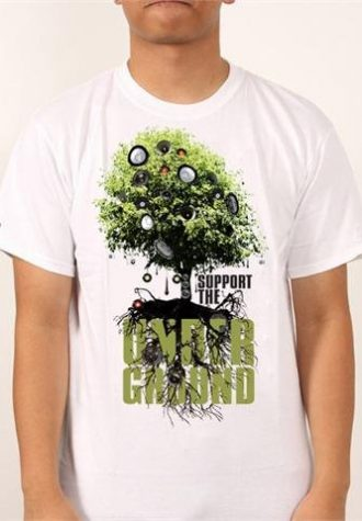 pánské bílé triko s potiskem Underground ($ 18)