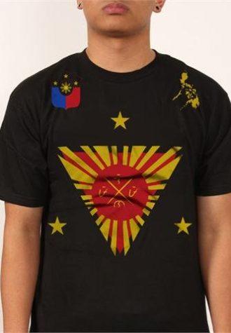 pánské černé triko s potiskem PI Fight Flag ($ 28)