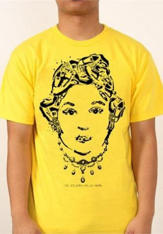 pánské žluté triko s potiskem 3000 Pairs ($ 28)