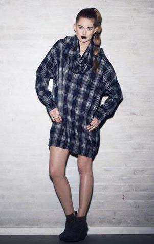 kostkovaný top:šaty Bibi Chemnitz