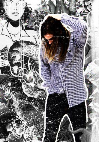 pánská kostkovaná košile a černé kalhoty Im King