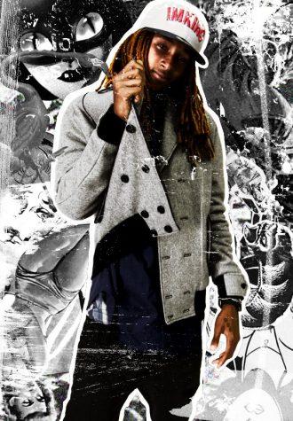 pánská šedivá zimní bunda a kšiltovka s logem Im King