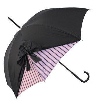 deštník Drape Umbrella in Black and Rose Stripe (99.99 GBP)