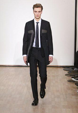 pánský černý oblek a bunda Raf Simons