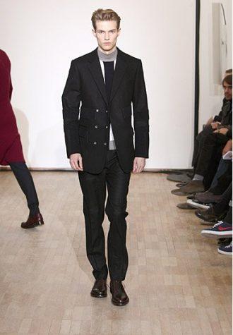pánský černý oblek a svetr Raf Simons
