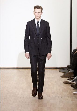 pánský černý oblek Raf Simons