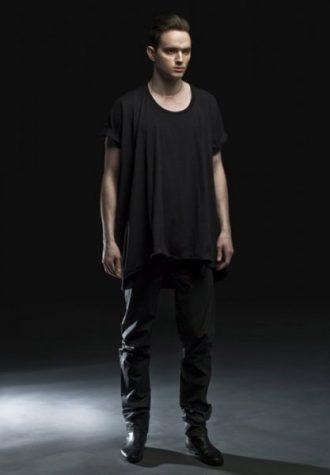 pánské černé triko a kalhoty Complex geometries