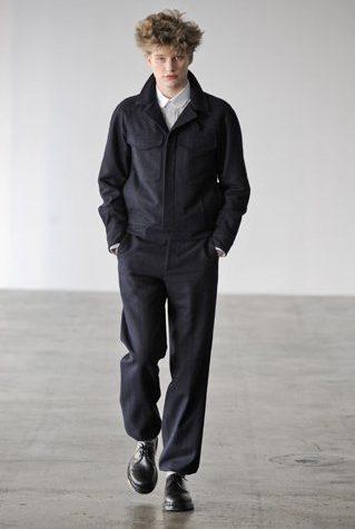 pánská černá bunda a kalhoty Patrik Ervell