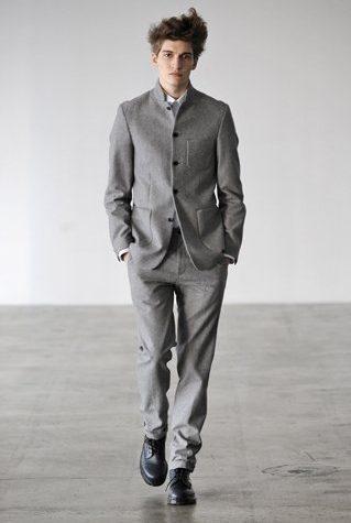 pánský šedý oblek Patrik Ervell