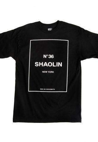 pánské černé tričko s potiskem Rocksmith - Shaolin ($ 28)