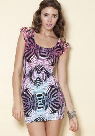 šaty Belinda Micro Zebra Purple (35 GBP)
