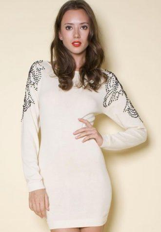 úpletové šaty Anney Cream (49 GBP)