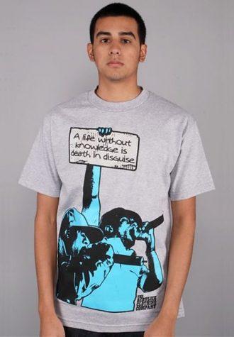 pánské šedé tričko Mos Def - Knowledge ($ 25.99)