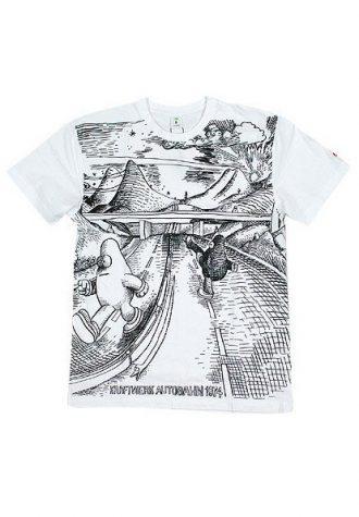 pánské bílé tričko YOD - Autobahn (£34.95)