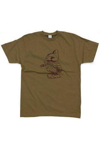 pánské hnědé tričko Bird God (£34.95)