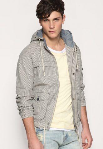 bunda Striped Hooded Jacket (85.47 USD)