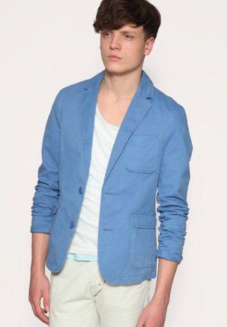 pánské modré sako ASOS, typ Slim Fit (£ 30)