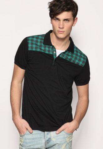 tričko Woven Panel Polo Shirt (27.35 USD)