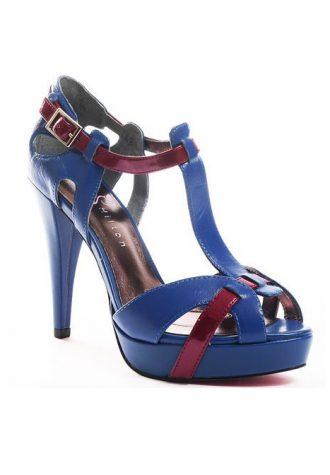 modré páskové střevíčky Paris Hilton - Pzaz Sandal ($ 94.99)