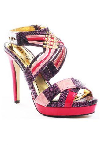 růžovo-fialové střevíčky Dereon - Henna Sandal ($ 61.99)