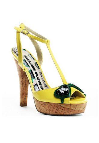 žluté páskové střevíčky Harajuku Lovers - Leah Heel ($ 50)