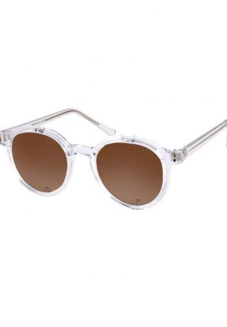 pánské sluneční brýle ASOS, typ Clear Frame Round (£ 18)