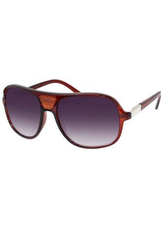 pánské sluneční brýle ASOS, typ Wooden Detail Moulded Aviator (£ 18)