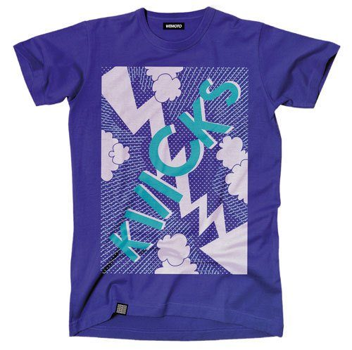 pánské fialové triko s potiskem Wemoto, typ Kicks (€ 34,90)