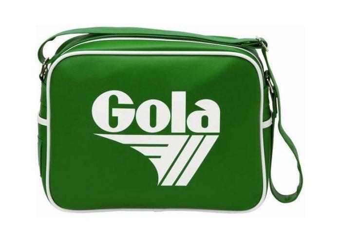 pánská zelená taška Gola, typ White on Green (£ 18.99)