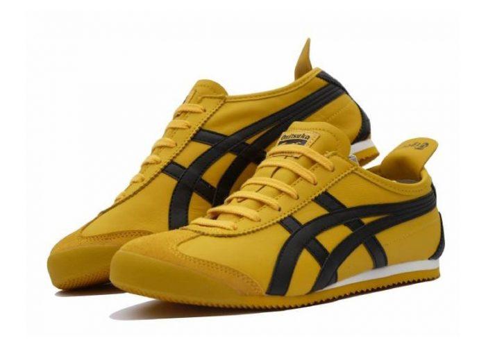 pánské žluté tenisky Onistuka Tigers, typ Black on Yellow (£ 44.99)