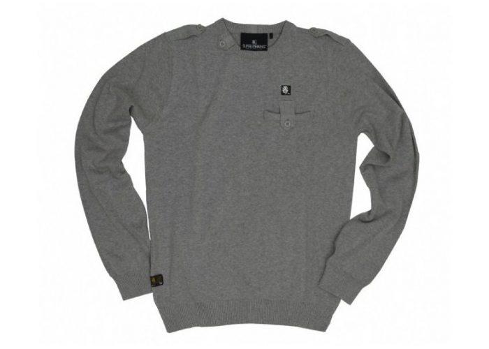 pánský šedý svetr Supremebeing, typ Grey (£ 19.99)