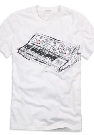 pánské bílé triko s potiskem American Eagle, typ Keyboard ($ 7.95)
