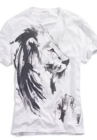 pánské bílé triko s potiskem American Eagle, typ Lion ($ 9.95)