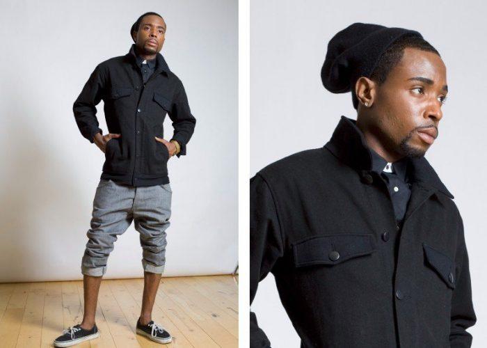 pánská černá bunda B-Scott Design