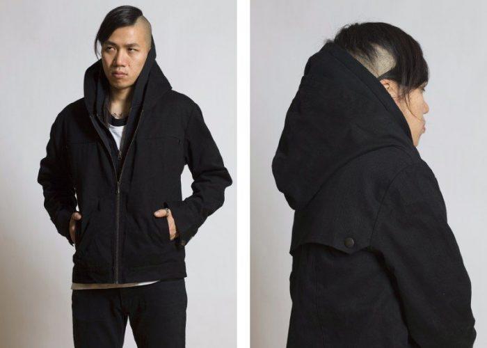 pánská černá bunda na zip B-Scott Design