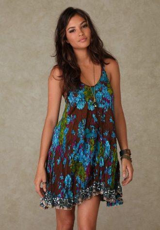 šaty New Crinkle Floral Dress (1 923 Kč)