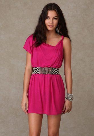 šaty One Shoulder Solid Tunic (1 138 Kč)