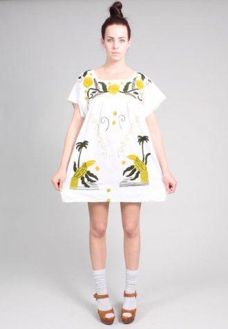 dámské bílé šaty s potiskem Ramona West (49 USD)