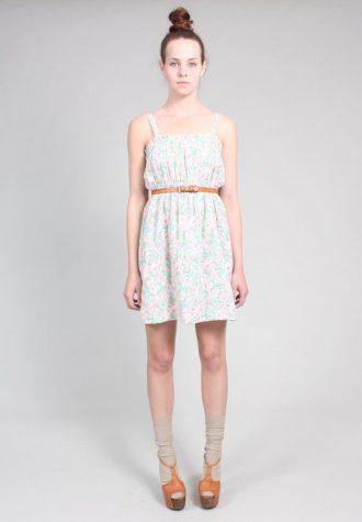 dámské květované šaty s koženým páskem Ramona West (49 USD)