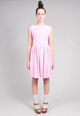 dámské světle růžové šaty Ramona West (49 USD)